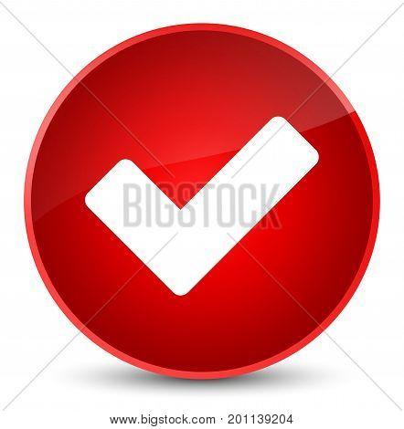Validate Icon Elegant Red Round Button