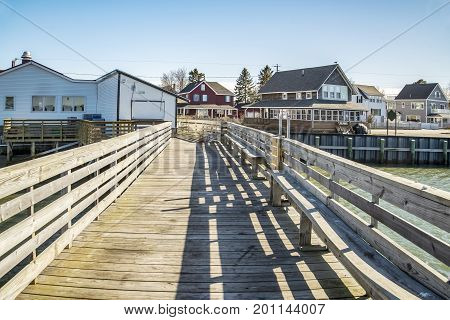 Scenic view of Pine Point in Scarborough, Maine.