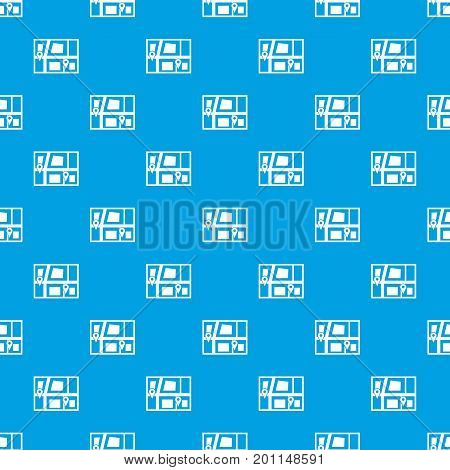 Geo location of taxi pattern repeat seamless in blue color for any design. Vector geometric illustration