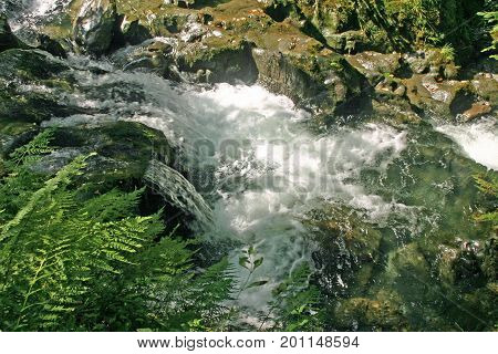 Waterfalls In River Gorge