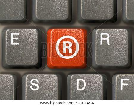 Keyboard, Key With Registered Mark Symbol