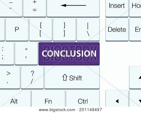 Conclusion Purple Keyboard Button