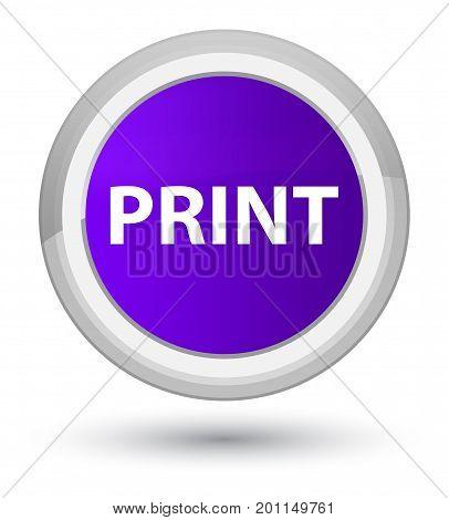 Print Prime Purple Round Button