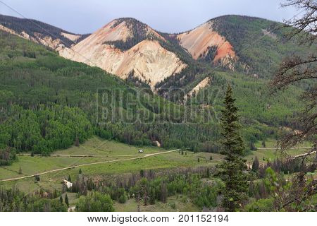 Red Mountains at Elwood Pass in Pagosa Spring, Colorado