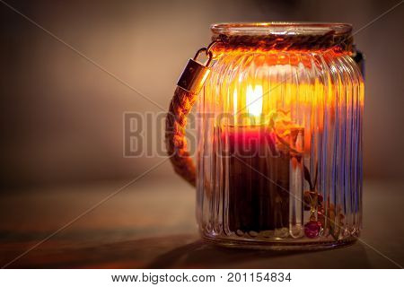 Romantic still life with candlelight - suitable for greeting card