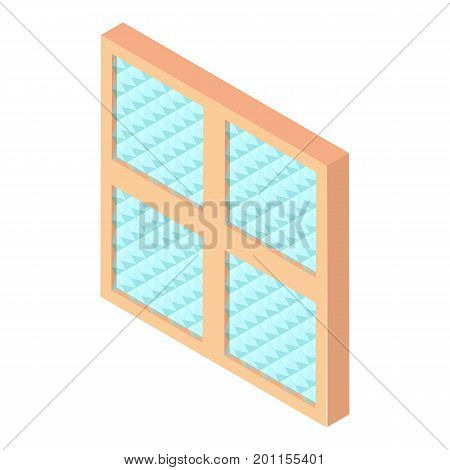 Square window frame icon. Isometric illustration of square window frame vector icon for web