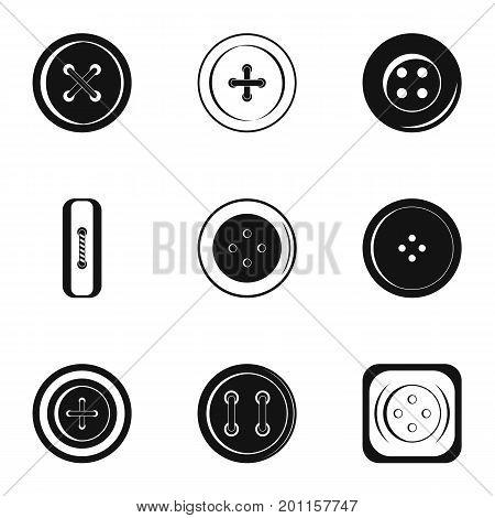 Modern clothes button icon set. Simple set of 9 modern clothes button vector icons for web isolated on white background
