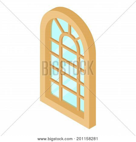Palace window frame icon. Isometric illustration of palace window frame vector icon for web