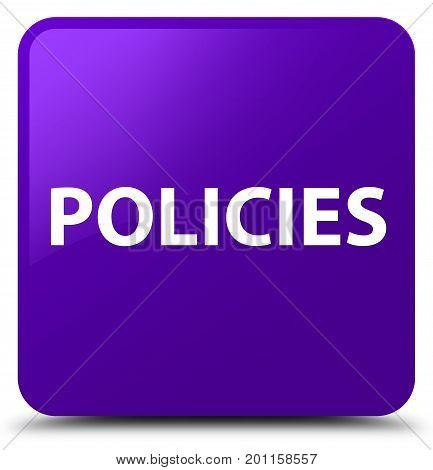 Policies Purple Square Button