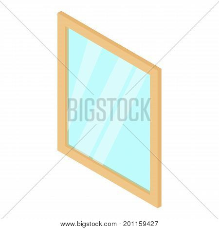 Metal-plastic window frame icon. Isometric illustration of metal-plastic window frame vector icon for web