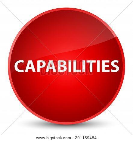 Capabilities Elegant Red Round Button