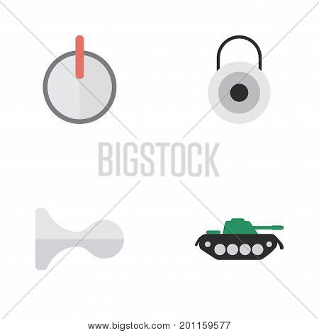 Elements Military, Hunting, Safe And Other Synonyms Password, Deer And Close.  Vector Illustration Set Of Simple Offense Icons.