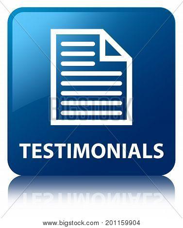 Testimonials (page Icon) Blue Square Button