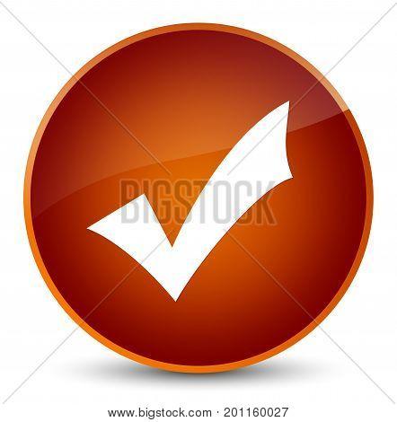 Validation Icon Elegant Brown Round Button