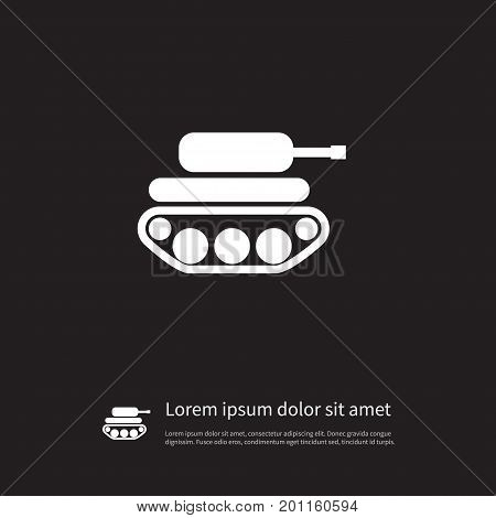Defense Vector Element Can Be Used For Panzer, Defense, Tank Design Concept.  Isolated Panzer Icon.