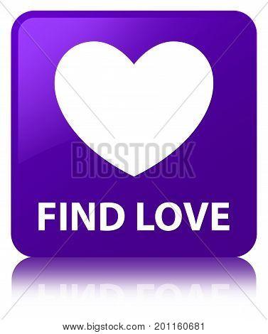 Find Love Purple Square Button