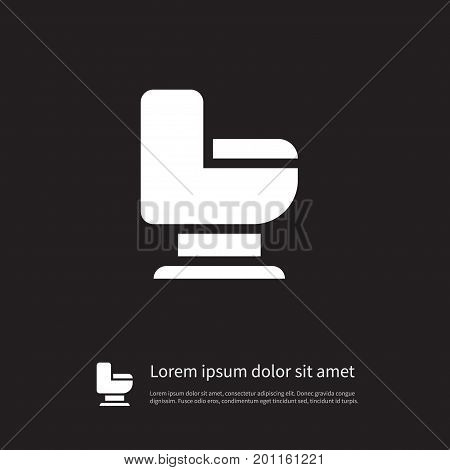 Restroom Vector Element Can Be Used For Toilet, Restroom, Wc Design Concept.  Isolated Toilet Icon.