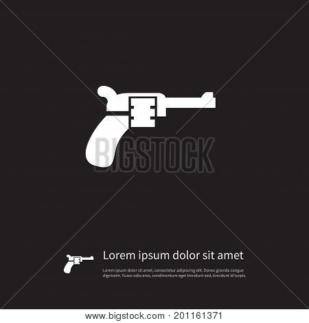 Revolver Vector Element Can Be Used For Revolver, Weapon, Pistol Design Concept.  Isolated Weapon Icon.