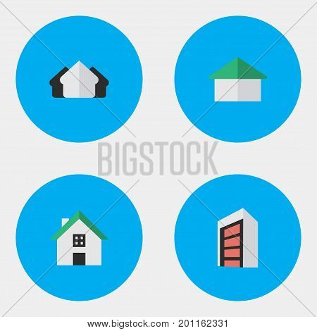 Elements Property, Construction, Home And Other Synonyms Real, Property And Estate.  Vector Illustration Set Of Simple Property Icons.