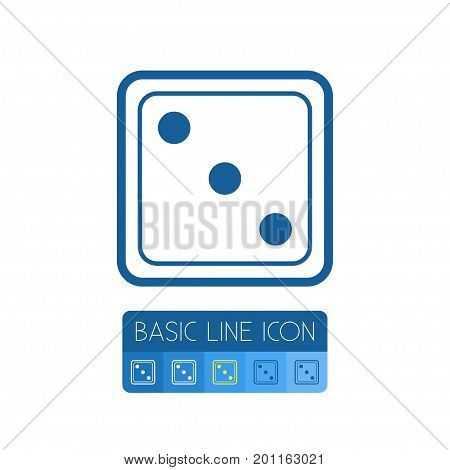Dice Vector Element Can Be Used For Die, Dice, Luck Design Concept.  Isolated Die Outline.