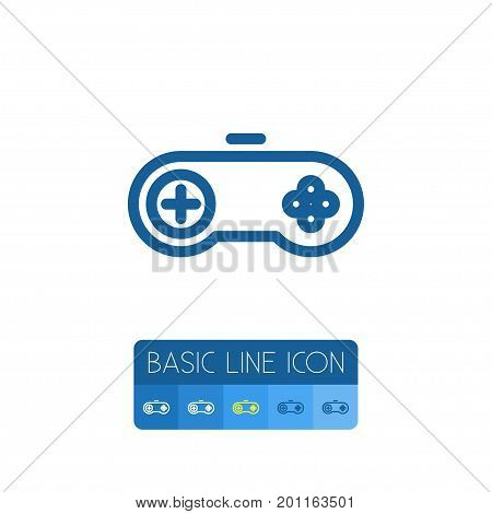 Arcade Vector Element Can Be Used For Video-Game, Arcade, Gamepad Design Concept.  Isolated Video-Game Outline.