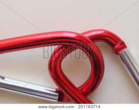 Red Keyring Hook With Copy Space