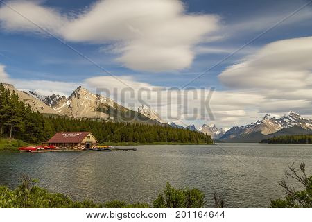 Lake Maligne's Boat House