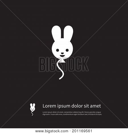 Decoration Vector Element Can Be Used For Rabbit, Balloon, Decoration Design Concept.  Isolated Rabbit Icon.
