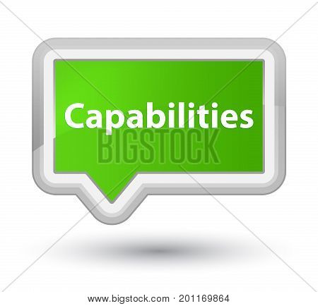Capabilities Prime Soft Green Banner Button