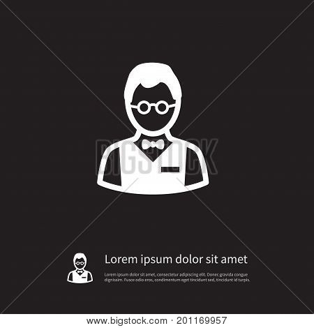 Person  Vector Element Can Be Used For Person, Investor, Croupier Design Concept.  Isolated Investor Icon.