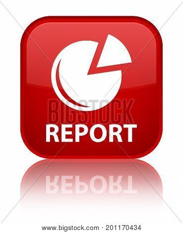 Report (graph Icon) Special Red Square Button
