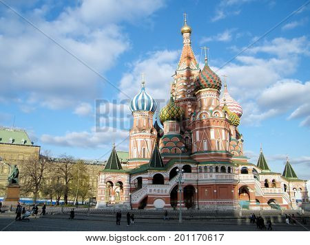 The Cathedral of Basil the blessed in Moscow Russia