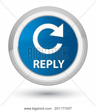 Reply (rotate Arrow Icon) Prime Blue Round Button