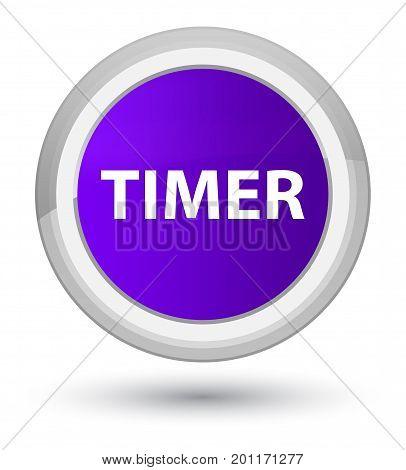 Timer Prime Purple Round Button