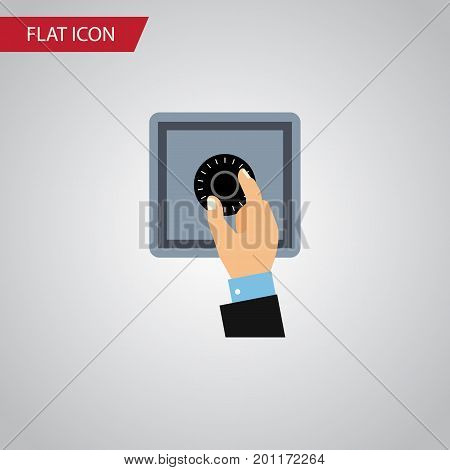 Closed Vector Element Can Be Used For Closed, Safe, Unlock Design Concept.  Isolated Unlock Flat Icon.