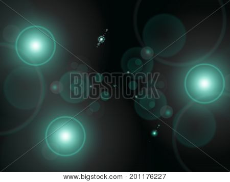 Abstract background. Lighting orbs. Bluish orbs. Miscellaneous