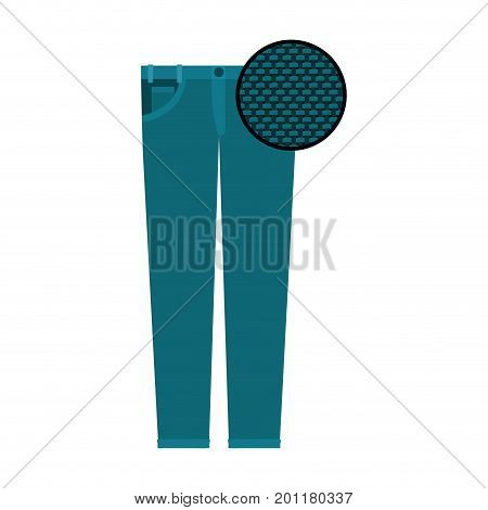 colorful silhouette of female pants and circle of macro textile pattern vector illustration