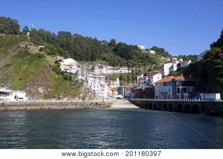 View Of Cudillero From The Ocean In Spain