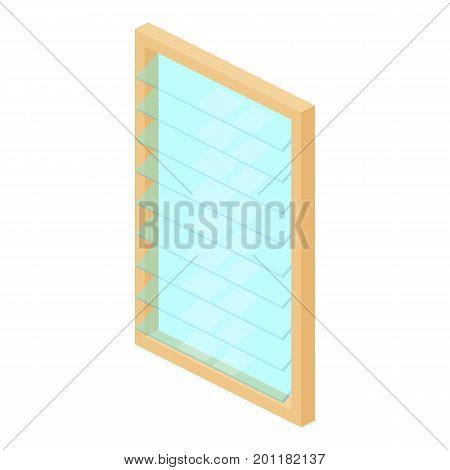 Rectangular window frame icon. Isometric illustration of rectangular window frame vector icon for web