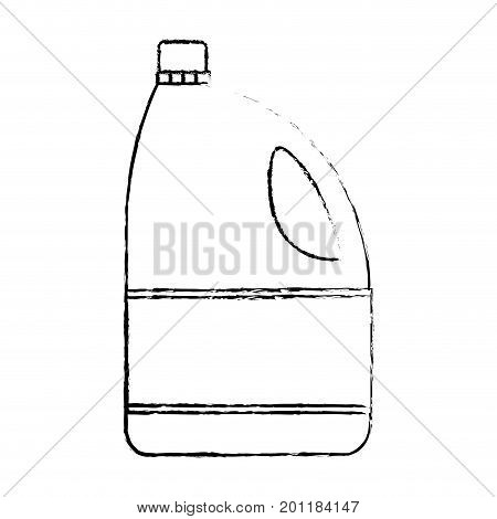 monochrome blurred silhouette of bleach clothes bottle vector illustration