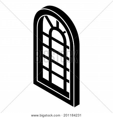 Palace window frame icon. Simple illustration of palace window frame vector icon for web