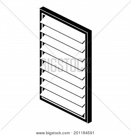 Rectangular window frame icon. Simple illustration of rectangular window frame vector icon for web