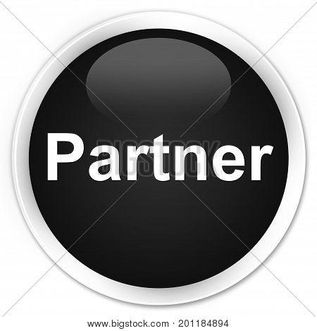 Partner Premium Black Round Button