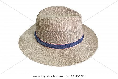 Men hat isolated on a white background