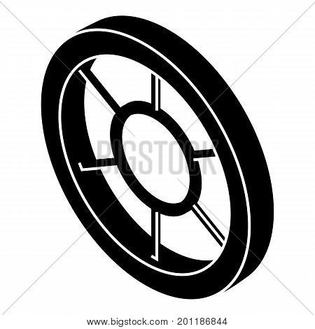 Round window frame icon. Simple illustration of round window frame vector icon for web