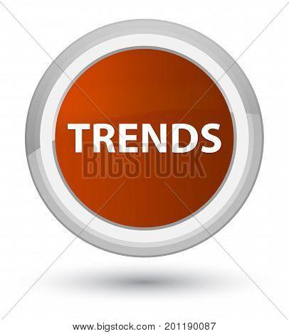 Trends Prime Brown Round Button
