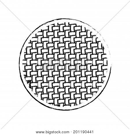 monochrome blurred silhouette of circle with macro seamless textile pattern vector illustration