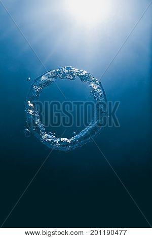 Underwater Bubble ring. Underwater Bubble ring. Underwater.