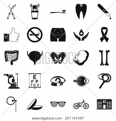 Internist icons set. Simple set of 25 internist vector icons for web isolated on white background