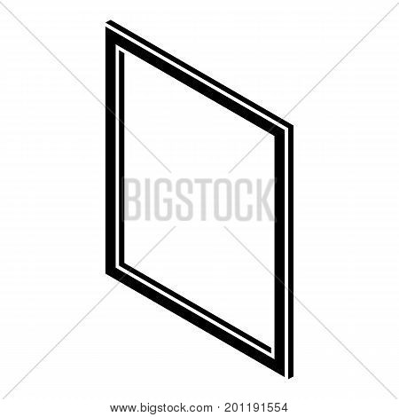 Metal-plastic window frame icon. Simple illustration of metal-plastic window frame vector icon for web